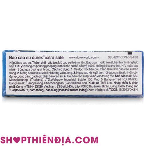 Bao cao su Durex Extra Safe 05